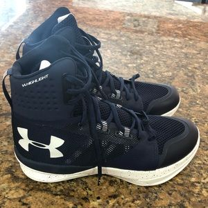 Under armour highlight volleyball shoes.